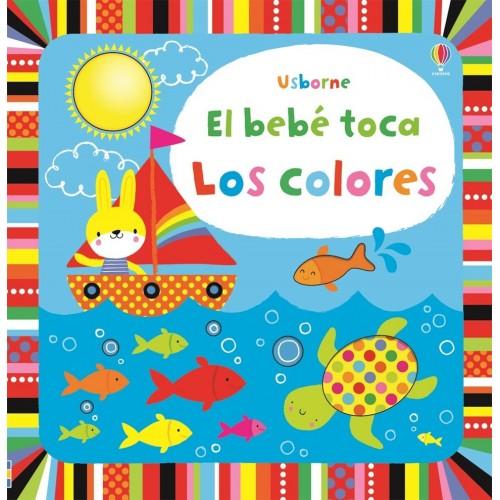 Los colores. El bebé toca