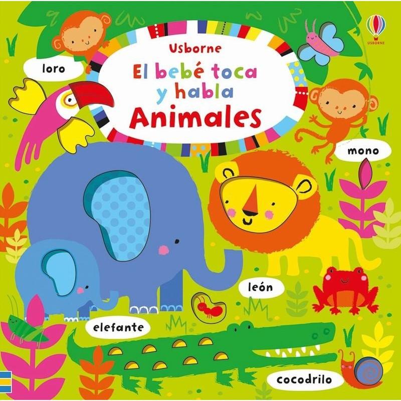 Animales. El bebé toca y habla
